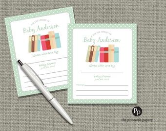 Baby Shower Book Plates | Personalized with Name & Shower Date | No. BP1-100