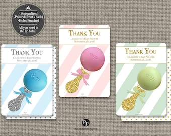 Printed Baby Shower/Sprinkle Party Favors for EOS lip balm | 12 Favor Tags| No. P-STP-EOS