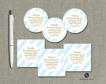 Baby Shower Gift Tags   INSTANT DOWNLOAD   Round or Square Favor Tags   No. IAB-133K