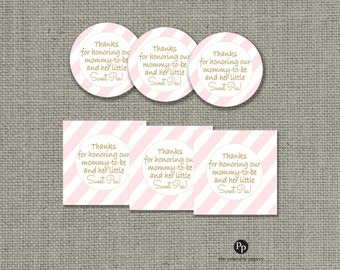 Baby Shower Gift Tags | INSTANT DOWNLOAD | Round or Square Favor Tags | No. IAG133K