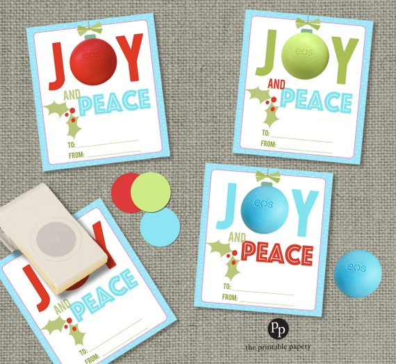 Holiday Christmas Gift Tags For Eos Lip Balm Gifts INSTANT