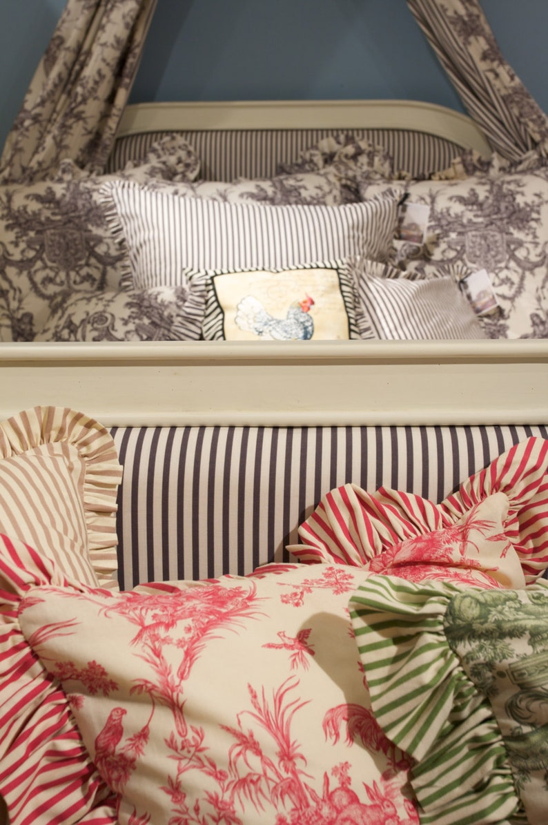 Gathering  Ruffle  added on to your custom or valance  pillows or drapes !