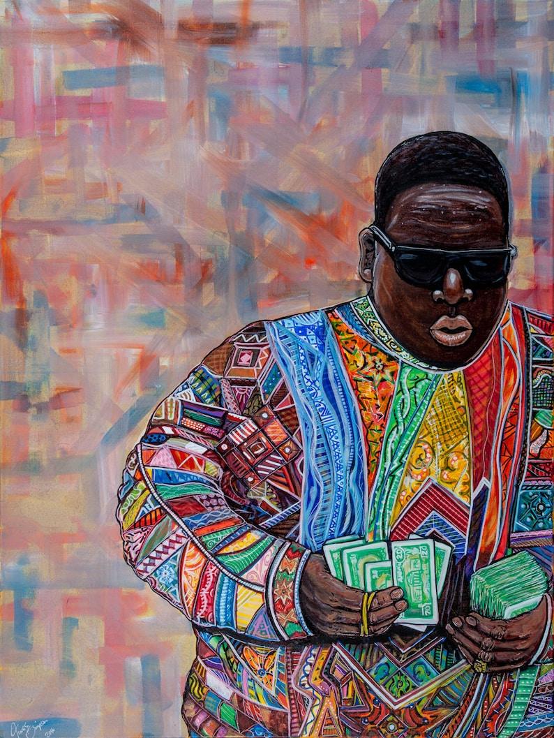 Biggie Smalls Cosby Jacket Print 16x12  on high image 0