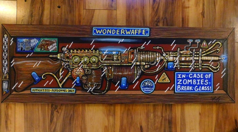 Wunderwaffe art print Sized 18x6 and printed on high image 0