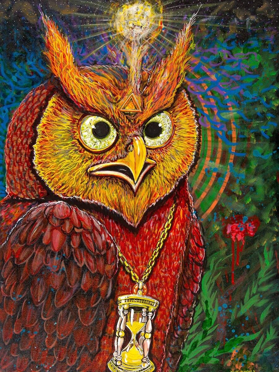 Owl A4 Original Artwork /'Guardian.../'