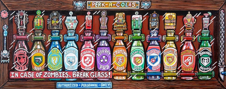 Perks Call of Duty art print 18x7 on high end image 0