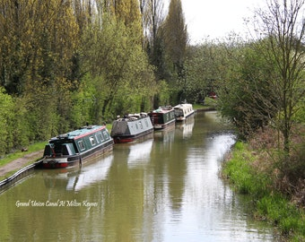 The Grand Union Canal At Milton Keynes Fine Art Blank Photographic Greetings Card