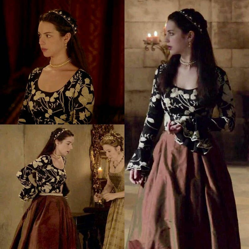 RENAISSANCE Crown Pearl Bridal Wedding Crown Tiara Headpiece Medieval Bride as featured in the Tv series REIGN
