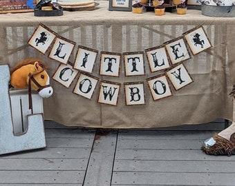 Little Cowboy Banner, Cowboy baby shower banner, Cowboy birthday party banner, Cowboy baby sprinkle, it's a boy, Cowboy shower, HM788