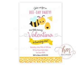 Honey Bee Invitation Etsy