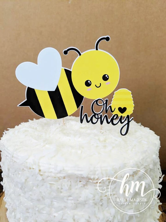 Brilliant Bumble Bee Cake Topper Oh Honey Bee Baby Shower Decorations Etsy Funny Birthday Cards Online Inifofree Goldxyz