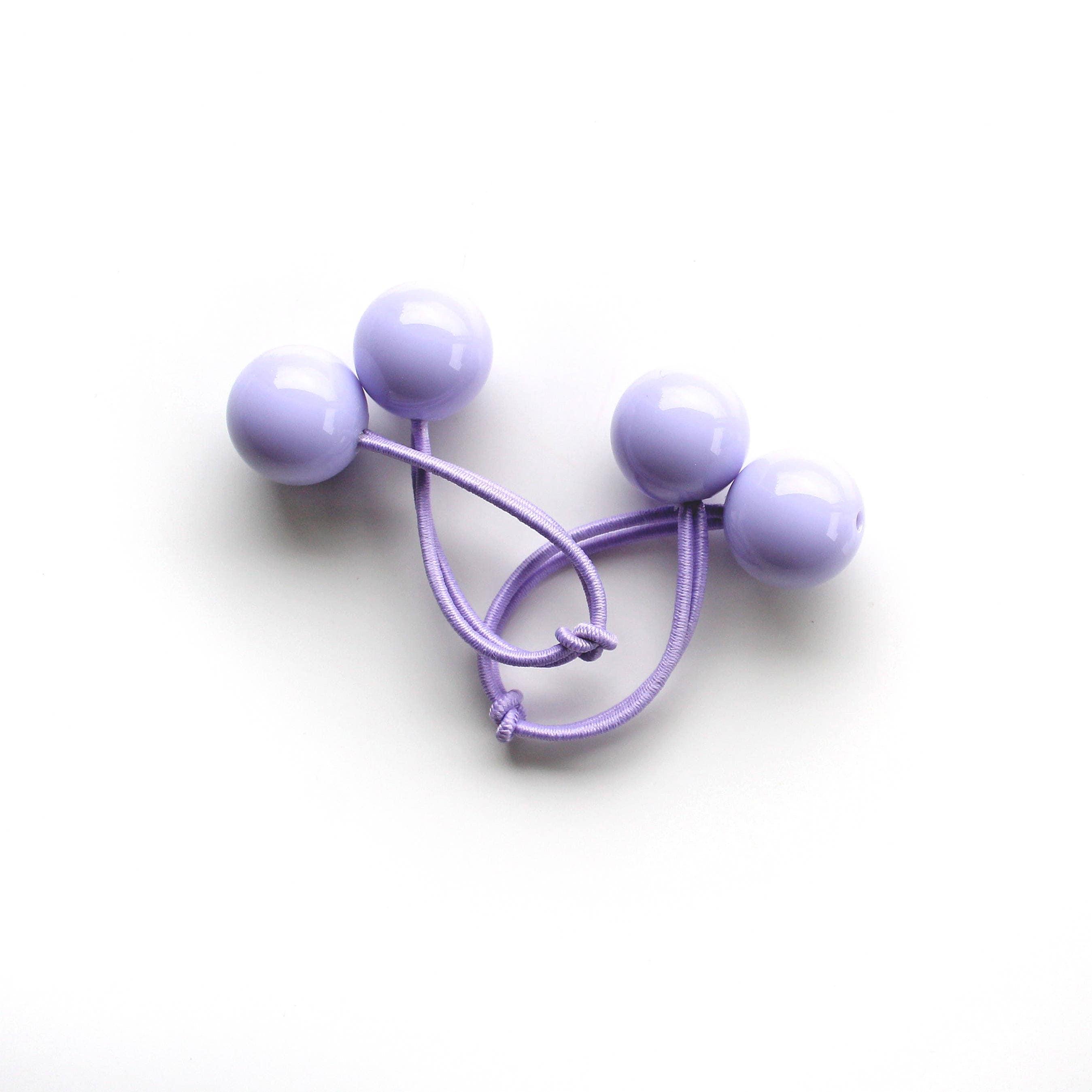 LAVENDER bobbles. Light purple hair bobbles. Retro style hair ... 11efe400cd0