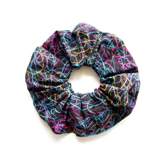 CURLY . Large Scrunchy or Scrunchie. Scrunchy. Women Hair Accessories. Retro Accessory.