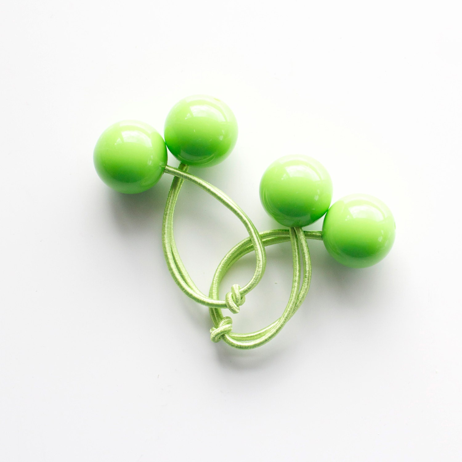 LIGHT GREEN bobbles. Hair ties. Elastic hair ties. Funky. Light Green ... c8bc277e11a