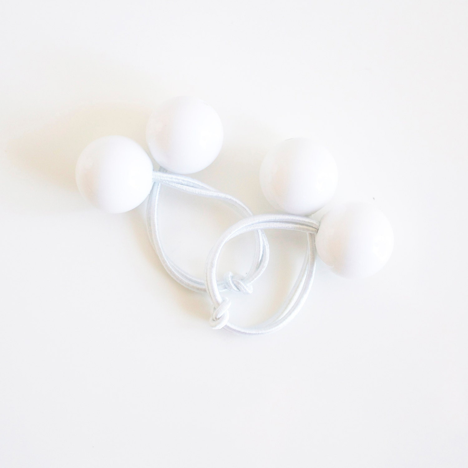 JUST WHITE. Hair ties. Elastic hair ties. Funky. White hair accessory ... dca9f6091ae