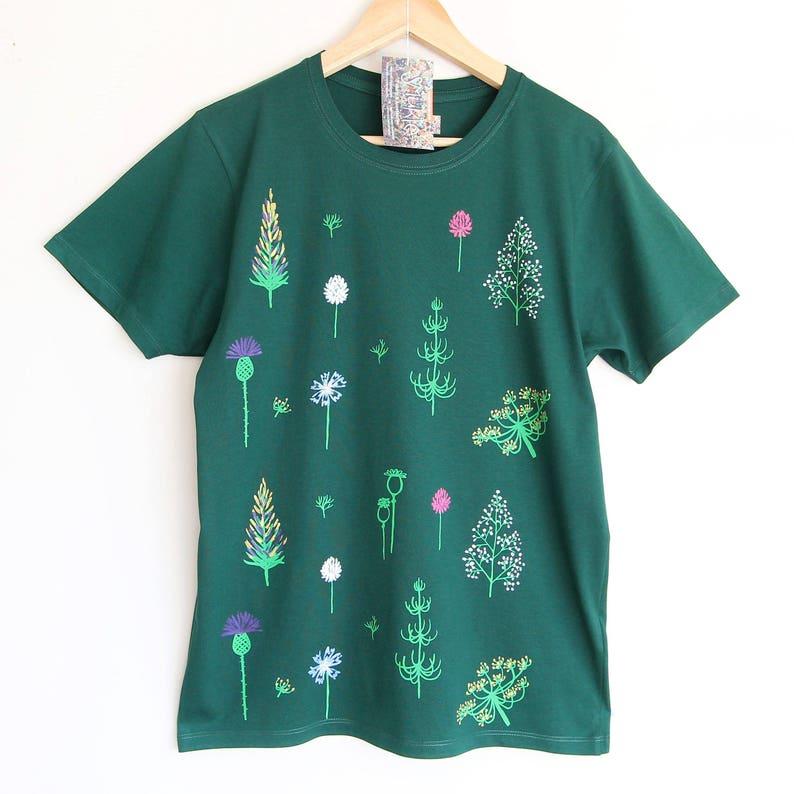 c6166c59f09 GO GREEN t shirt. 100% organic cotton t-shirt. Hand printed.