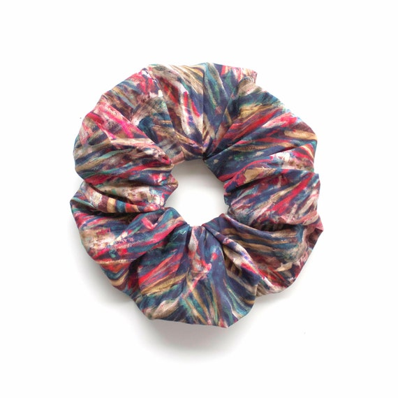VERY 90' scrunchy. Large Scrunchy or Scrunchie. Bright Hair Scrunchies. Women Hair Accessories, Retro Accessory