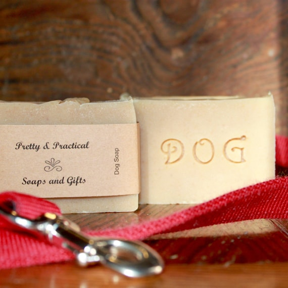 Dog Soap, Goats Milk and Oatmeal, Herbal Scent~All Natural, cold process soap