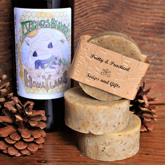 Beer Soap, natural, sage and oatmeal soap, made with locally brewed IV Sages beer