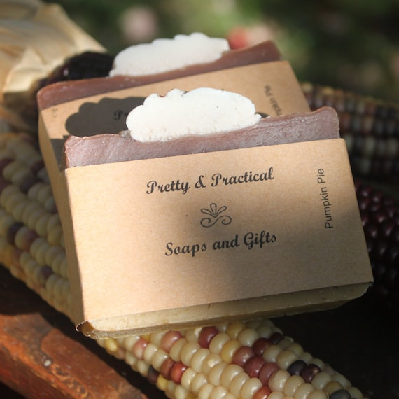 Pumpkin Pie Soap~Sale,homemade,decorative,seasonal guest soap,fall scent