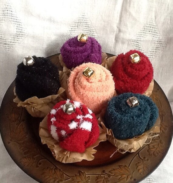 Cupcakes, fuzzy socks, small gift ideas, party favors,stocking stuffers,  shower gifts, teacher gifts, party gift,gifts under 10, gifts
