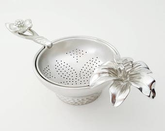 TITASY Pewter Tea Strainer [Rest of the afternoon, TS-08]