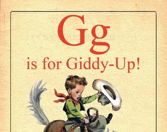 G is for Giddy Up! - 13x19 Print