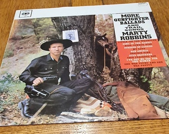 Marty Robbins - More Gunfighter Ballads And Trail Songs LP (with an orange label)