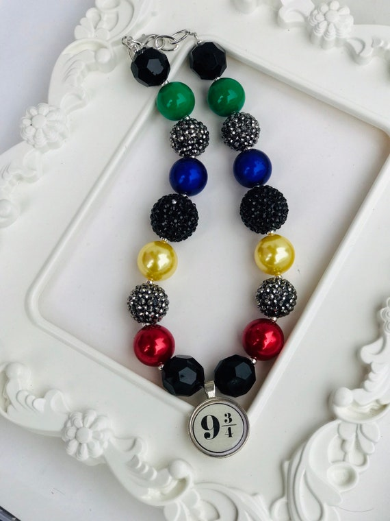 Platform 9 3//4 Pendant Mens Harry Potter Inspired Chunky Curb Chain Necklace With Mischief Managed Solemnly Swear