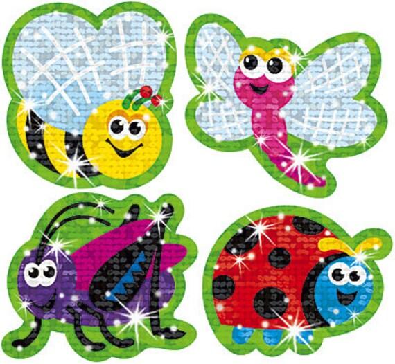Tendance animé Bugs Sparkle autocollants