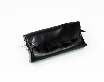 Bat Latex Clutch and Shoulder Purse Bag