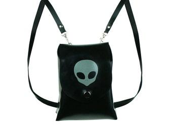 Latex Alien Mini Backpack