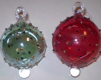 Pottery & Glass Pink And Blue Teardrop Shaped Art Glass Ornament Elegant Shape Glass