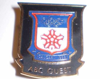 Olympics Calgary 1988 Pin ABC Guest Pin Calgary 1988 ABC Guest