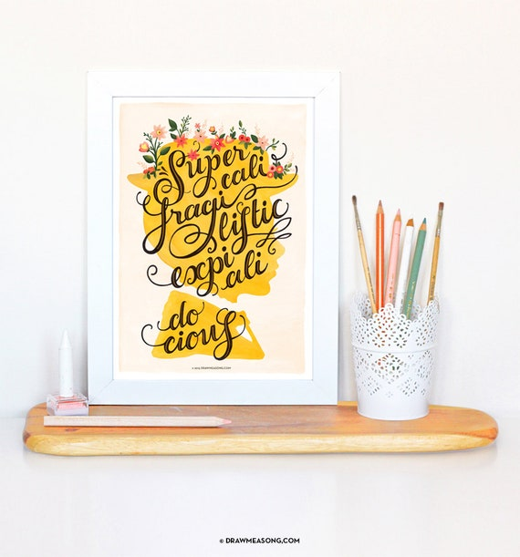 Disney inspired mary poppins poster print wall art gift decor merchandise