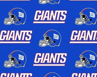 New York GIANTS NFL Cotton Fabric By The Yard Sports Team Football 100%  Cotton New 634e3fb8f