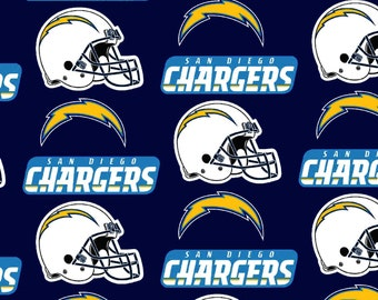 SAN DIEGO Chargers NFL Cotton Fabric By The Yard Sports Team Football 100% Cotton New