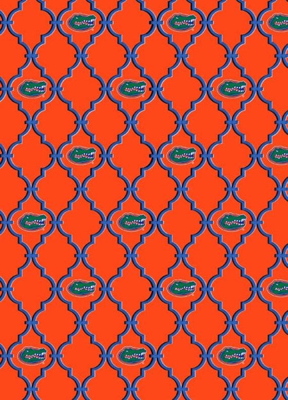 University of Florida Cotton Fabric-Florida Gators Cotton Quilting Fabric-1115