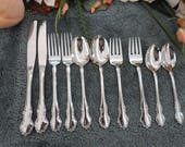 Oneida TENNYSON Vintage USA 18 8 Community Cube Mark Stainless 10pcs 2 Place Settings Excellent