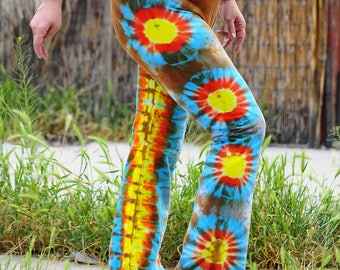 Tie Dye Yoga Pants, Southwest Sunrise Colors, American Apparel Loungewear, Trippy Workout Clothes