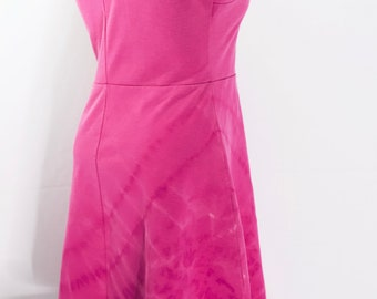 Upcycled Tie Dye Cute Pink Flirty Dress