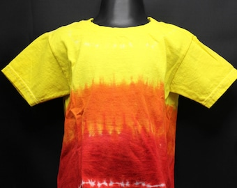 Tie Dye Kids T-Shirt, Trippy Children's Top, Cute Fire Hippie Toddler Tee