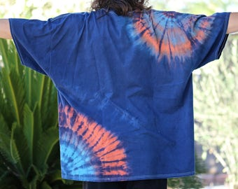 Plus size Shirt, Tie Dye T-Shirt, Denver Broncos T-shirts, Trippy Top, Hippie Clothing