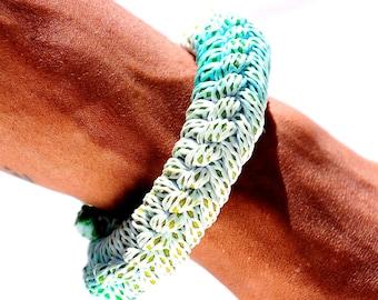 Tie Dye Rope Bracelet, Synthetic Cotton Jewelry, Knot Bracelet, Tie Dye Woven Bracelet, Celtic Weaving Rope Bracelet