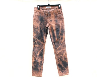 Upcycled Tie Dye Corduroy Pants, OOAK Repurposed Bottoms, Hippie Recycled Clothing, Trippy Ladies Pants