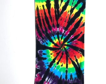 Tie Dye Plush Beach Towel