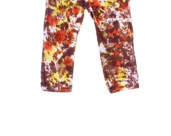 Tie Dye Upcycled Capri Jeans Ladies Hippie Pants