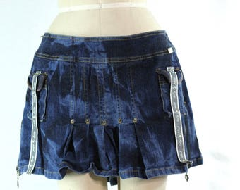 Tie Dye Upcycled Baby Phat Pleated Ladies Skirt