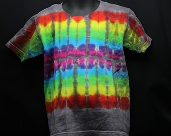Tie Dye Kids T-Shirt, Trippy Children's Top, Cute Rainbow Hippie Toddler Tee