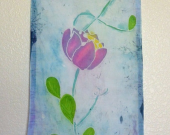 Hand painted Batik Wall or Window Tapestry